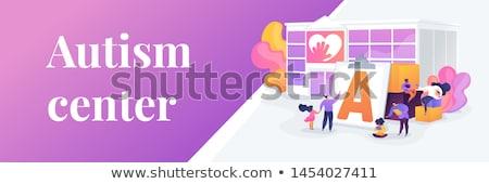 Autism center concept banner header. Stock photo © RAStudio