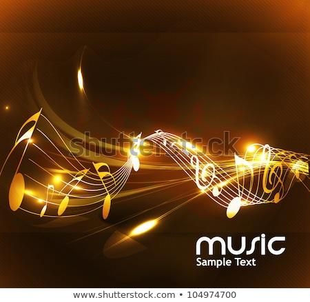 Zene vonalak jegyzetek szöveg feliratok vektor Stock fotó © robuart