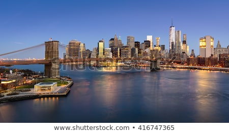 ストックフォト: 表示 · 橋 · 川 · ニューヨーク · 景観
