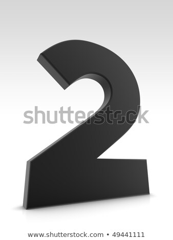 Black and white layered Number 2 TWO 3D Stock photo © djmilic