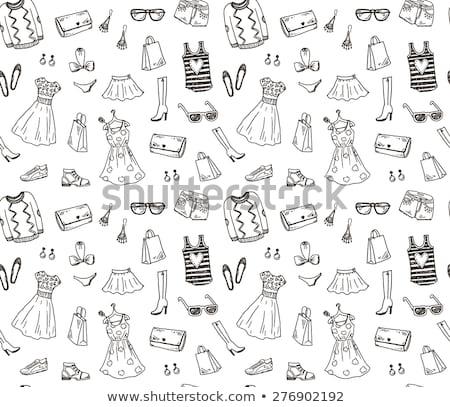 vector · vrouwelijke · zomerschoenen · geïsoleerd · witte · vrouwen - stockfoto © margolana