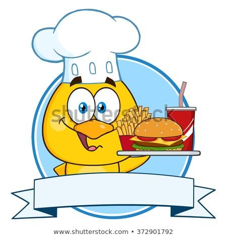 chef · hamburger · cartoon · mascotte · karakter - stockfoto © hittoon