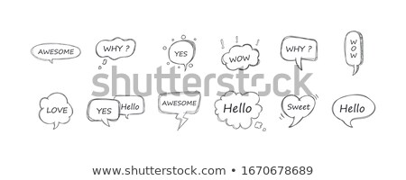 да знак бумаги речи пузырь облаке говорить Сток-фото © FoxysGraphic