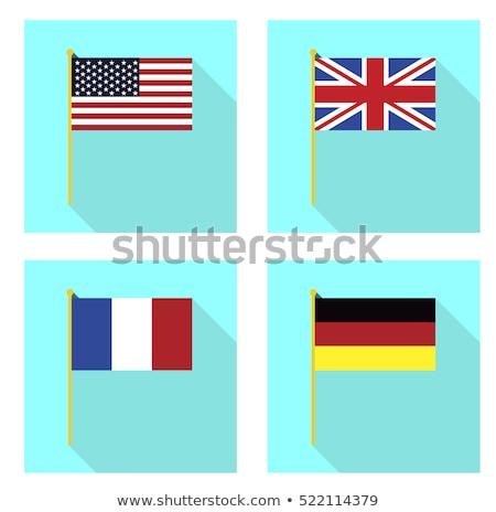 Stockfoto: Banner · twee · vierkante · vlaggen · Verenigd · Koninkrijk · Frankrijk