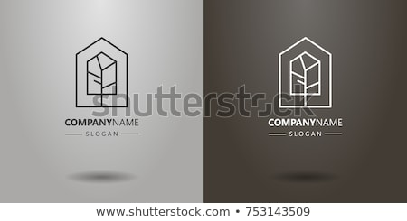 houses made of wood homes isolated icons vector stock photo © robuart