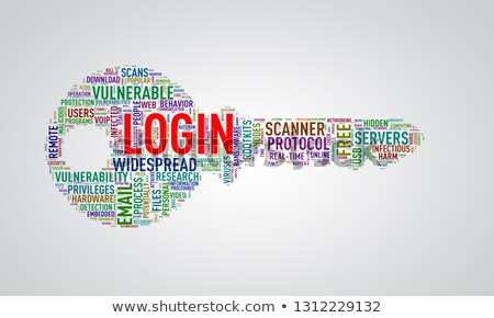 Key shape wordcloud tag login Stock photo © nasirkhan