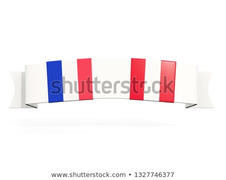 Banner with two square flags of France and peru Stock photo © MikhailMishchenko