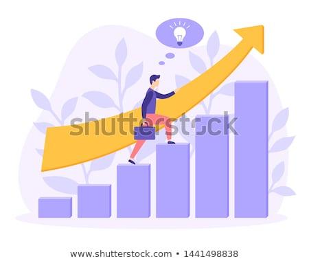 análise · de · negócios · projeto · estilo · colorido · ilustração · branco - foto stock © decorwithme