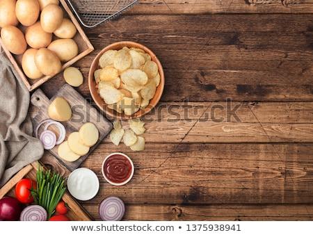 Сток-фото: свежие · органический · домашний · картофеля · чипов · сырой