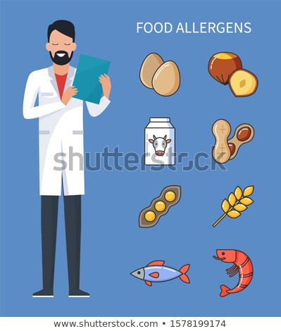 Food Allergens Doctor with Prescription and Cure Foto stock © robuart