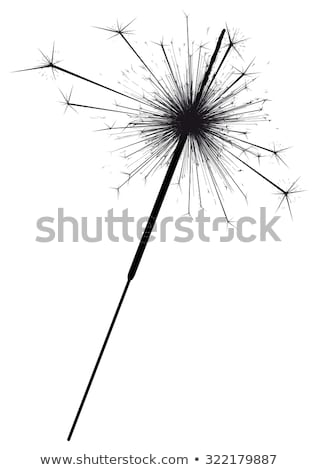 Сток-фото: Fireworks and Sparkler Vector Isolated Icons