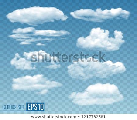 Bulutlar ayarlamak toplama vektör gerçekçi şeffaf Stok fotoğraf © frimufilms