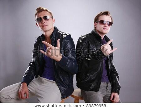 mens hand rock gesture stock photo © rogistok
