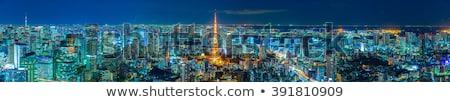 широкий мнение современных Небоскребы Токио Япония Сток-фото © alphaspirit