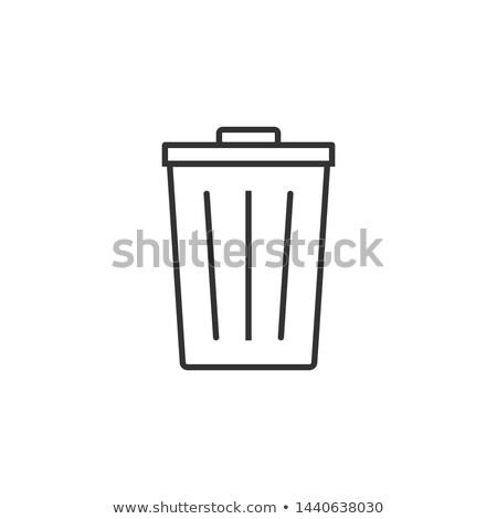 śmieci ikona zestaw kosza Zdjęcia stock © netkov1