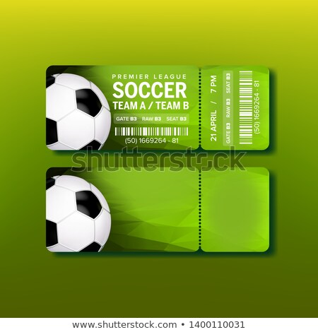 Ticket For Final Of Premier League Soccer Vector Stock photo © pikepicture