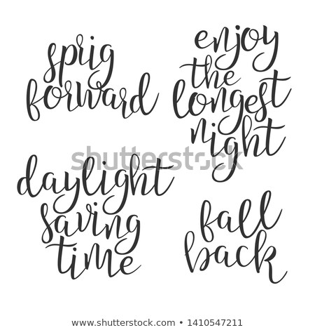 Modern Calligraphy Ink Of Word Daylight Vector Stock photo © pikepicture