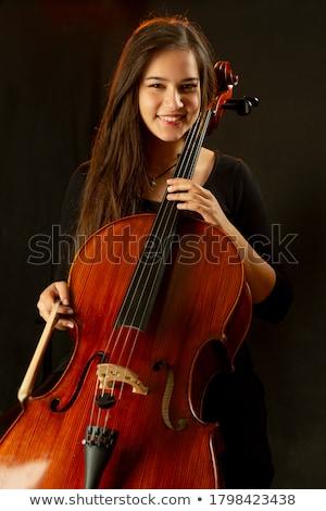 Eenzaam componist spelen viool musical Stockfoto © ra2studio