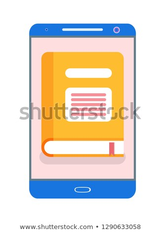Electronic Version of Yellow Book in Gadget Vector Stock photo © robuart