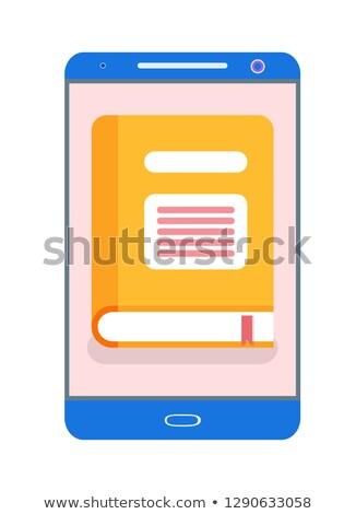 électronique version jaune livre vecteur Photo stock © robuart