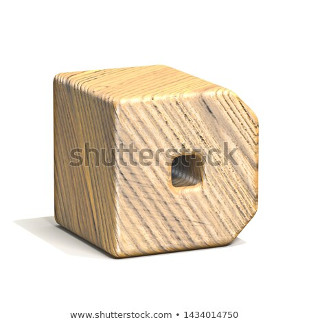 Solid wooden cube font Letter D 3D Stock photo © djmilic