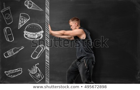 drawn fast food burger prohibition sign Stock photo © romvo