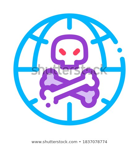 Raw Head And Bloody Bones Vector Thin Line Icon Stock photo © pikepicture