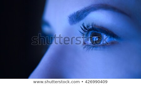 Mulher olho olhando tela do computador visão Foto stock © dolgachov