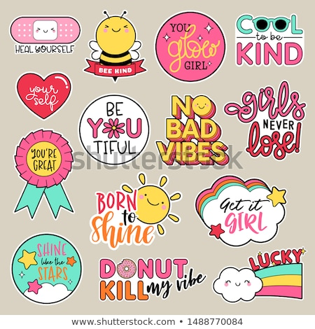 fun stickers colorful fun stickers design cartoon stickers stock photo © foxysgraphic