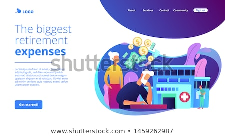 healthcare expenses of retirees concept landing page stock photo © rastudio