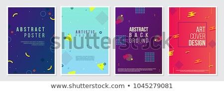 Abstract tijdgenoot sjablonen brochures banners folders Stockfoto © ExpressVectors