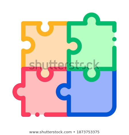 interactive kids game chess vector thin line icon stock photo © pikepicture