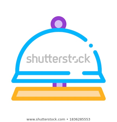 reception equipment bell vector thin line icon stock photo © pikepicture