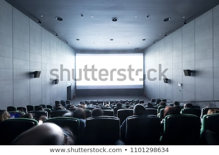 Stockfoto: Publiek · bioscoop · theater · entertainment · hal · vector
