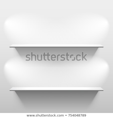 Kettő polcok árnyék üres fehér szoba Stock fotó © SwillSkill