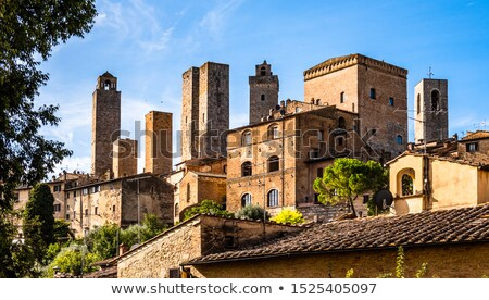 street with arch san gimignano italy stock photo © borisb17