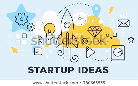 business idea and teamwork on startup illustration stock photo © robuart