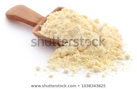 Harina blanco indio amarillo frescos tazón Foto stock © bdspn