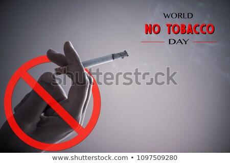 Wereld geen tabak dag sigaret Stockfoto © robuart