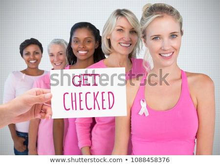 文字 手 カード ピンク 乳癌 ストックフォト © wavebreak_media