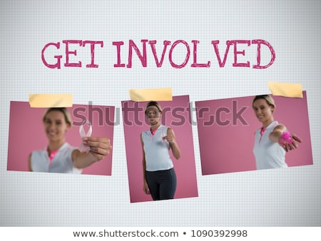 Get involved text and Breast Cancer Awareness Photo Collage Stock photo © wavebreak_media