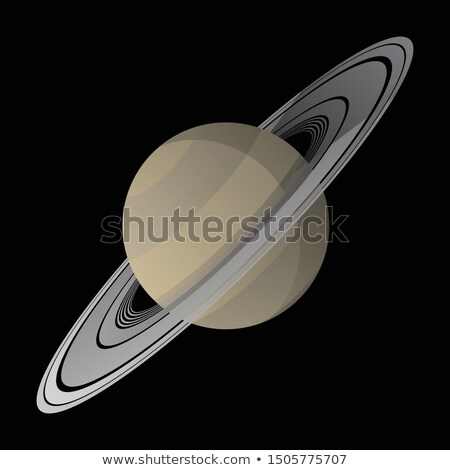 saturn vector illustration with soft shadows smooth gradient colors isolated stock photo © jeff_hobrath