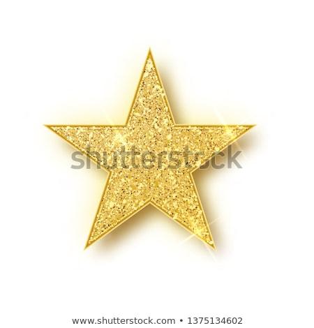 Oro brillante brillo estrellas sombra Foto stock © olehsvetiukha