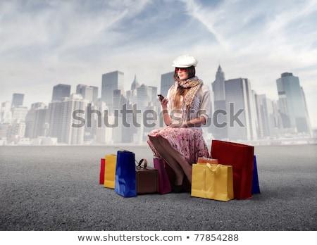 women on shopping trip with taxi stock photo © kzenon