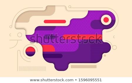 スタイリッシュ ハーフトーン バナー 抽象的な デザイン レトロな ストックフォト © SArts