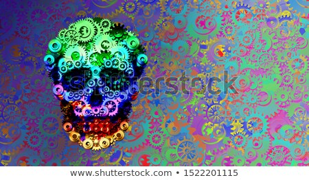 Steampunk Psychedelic Surreal Skull Decor Stock photo © Lightsource