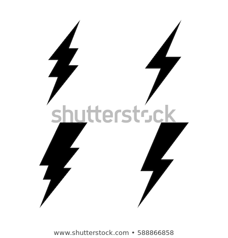 lightning icon set stock photo © bspsupanut