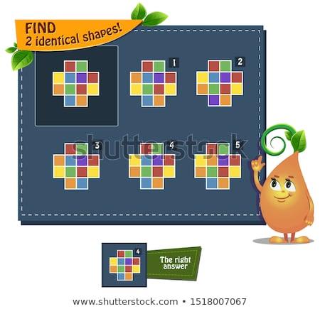 lógica · juego · formas · ninos · fotos · ninos - foto stock © olena