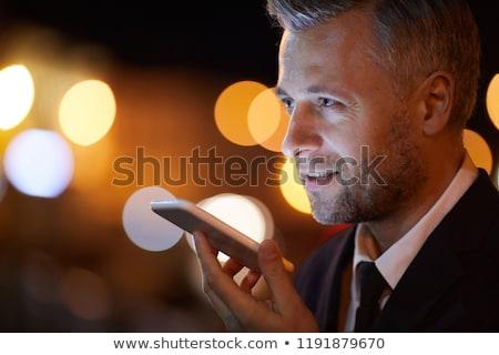 empresário · voz · comando · negócio · comunicação - foto stock © dolgachov