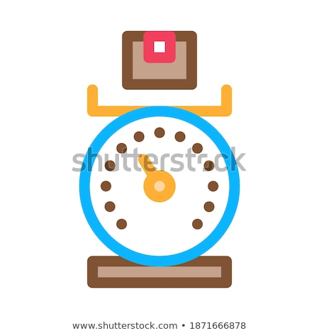 Weight of Delivery Postal Transportation Company Icon Vector Illustration Stock photo © pikepicture